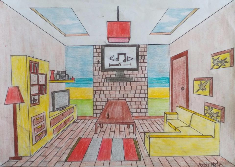 Habitaciones en perspectiva c nica frontal - Habitacion en perspectiva conica ...
